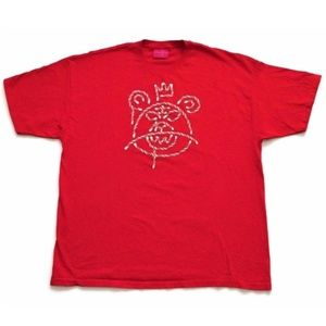 Mishka NYC Graphic Tee T-Shirt Red Candy Bear